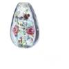 Glass Lamp Bead 14x9mm Light Sapphire/Rose